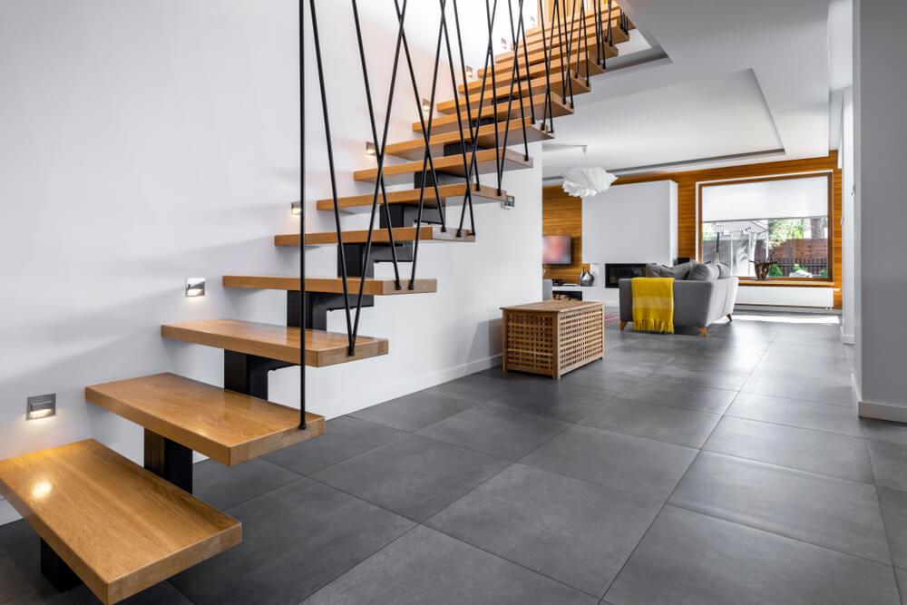 Moderné schody v dome na kľúč Bratislava