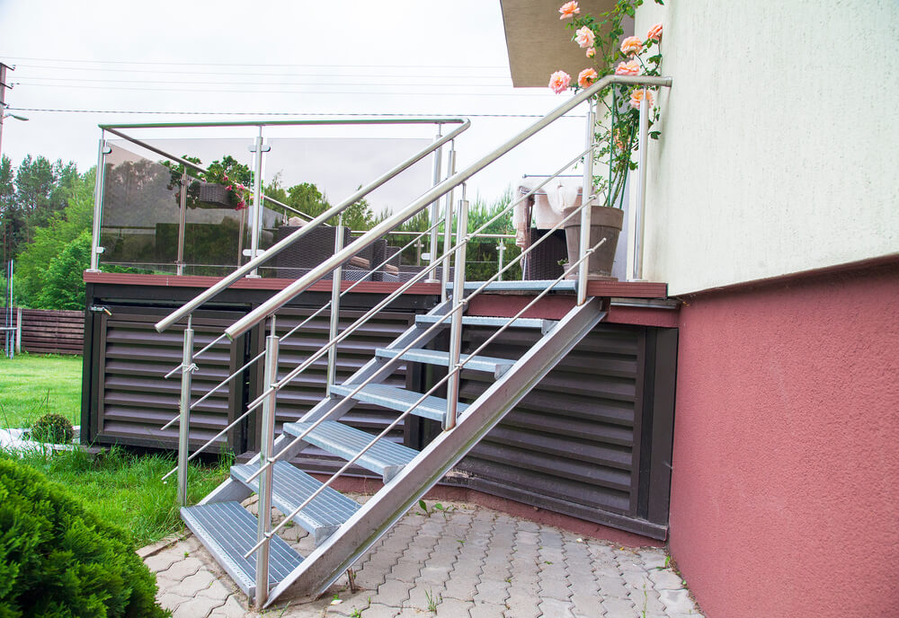 Vonkajšie schody na terasu Bratislava